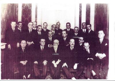 58df71c3add2 Gremio de joyeros de Vizcaya. Círculo Mercantil. D. Alfredo Álvarez Guijo y  D. Francisco Álvarez Galíndez.